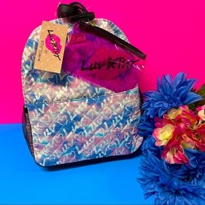💖SALE PRICE! NWT BETSEY JOHNSON 2PC LIZZY BACKPACK POUCH SET
